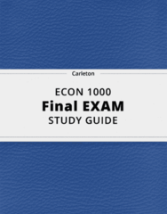 ECON 1000- Final Exam Guide - Comprehensive Notes for the exam ( 26 pages long!)