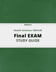 Health Sciences 1001A/B- Final Exam Guide - Comprehensive Notes for the exam ( 171 pages long!)