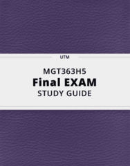 MGT363H5- Final Exam Guide - Comprehensive Notes for the exam ( 53 pages long!)