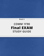 COMM 1F90- Final Exam Guide - Comprehensive Notes for the exam ( 26 pages long!)