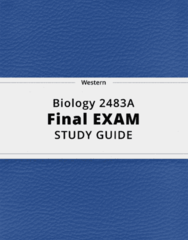Biology 2483A- Final Exam Guide - Comprehensive Notes for the exam ( 130 pages long!)