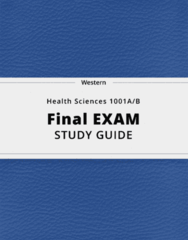Health Sciences 1001A/B- Final Exam Guide - Comprehensive Notes for the exam ( 24 pages long!)