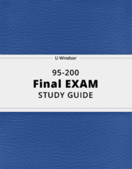 95-200- Final Exam Guide - Comprehensive Notes for the exam ( 130 pages long!)