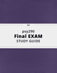 psy290- Final Exam Guide - Comprehensive Notes for the exam ( 73 pages long!)