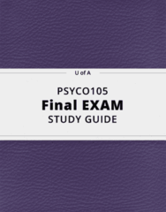 PSYCO105- Final Exam Guide - Comprehensive Notes for the exam ( 27 pages long!)