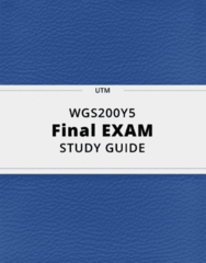 WGS200Y5- Final Exam Guide - Comprehensive Notes for the exam ( 44 pages long!)