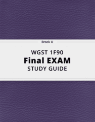 WGST 1F90- Final Exam Guide - Comprehensive Notes for the exam ( 92 pages long!)