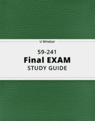 59-241- Final Exam Guide - Comprehensive Notes for the exam ( 136 pages long!)