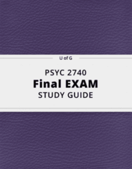 PSYC 2740- Final Exam Guide - Comprehensive Notes for the exam ( 88 pages long!)