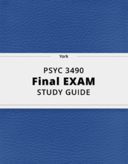 PSYC 3490- Final Exam Guide - Comprehensive Notes for the exam ( 77 pages long!)
