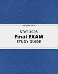 STAT 3005- Final Exam Guide - Comprehensive Notes for the exam ( 43 pages long!)
