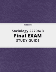 Sociology 2270A/B- Final Exam Guide - Comprehensive Notes for the exam ( 133 pages long!)