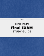 KINE 2049- Final Exam Guide - Comprehensive Notes for the exam ( 23 pages long!)