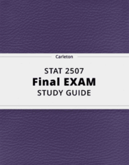 STAT 2507- Final Exam Guide - Comprehensive Notes for the exam ( 33 pages long!)