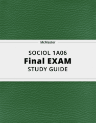SOCIOL 1A06- Final Exam Guide - Comprehensive Notes for the exam ( 63 pages long!)