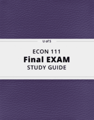 ECON 111- Final Exam Guide - Comprehensive Notes for the exam ( 44 pages long!)