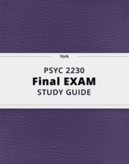 PSYC 2230- Final Exam Guide - Comprehensive Notes for the exam ( 91 pages long!)