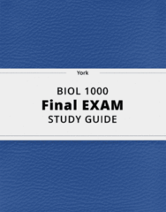 BIOL 1000- Final Exam Guide - Comprehensive Notes for the exam ( 55 pages long!)