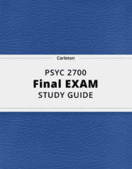 PSYC 2700- Final Exam Guide - Comprehensive Notes for the exam ( 69 pages long!)