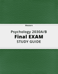 Psychology 2030A/B- Final Exam Guide - Comprehensive Notes for the exam ( 104 pages long!)
