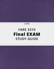 FARE 3310- Final Exam Guide - Comprehensive Notes for the exam ( 112 pages long!)
