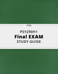 PSY290H1- Final Exam Guide - Comprehensive Notes for the exam ( 71 pages long!)