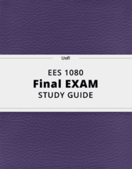 EES 1080- Final Exam Guide - Comprehensive Notes for the exam ( 59 pages long!)