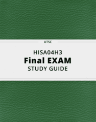 HISA04H3- Final Exam Guide - Comprehensive Notes for the exam ( 35 pages long!)