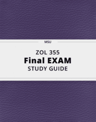 ZOL 355- Final Exam Guide - Comprehensive Notes for the exam ( 69 pages long!)