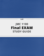 JMC 1100- Final Exam Guide - Comprehensive Notes for the exam ( 33 pages long!)