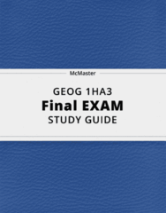 GEOG 1HA3- Final Exam Guide - Comprehensive Notes for the exam ( 23 pages long!)