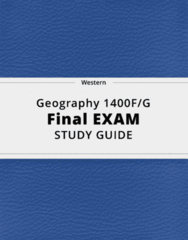 Geography 1400F/G- Final Exam Guide - Comprehensive Notes for the exam ( 53 pages long!)