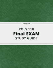 POLS 110- Final Exam Guide - Comprehensive Notes for the exam ( 38 pages long!)