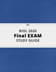 BIOL 2020- Final Exam Guide - Comprehensive Notes for the exam ( 22 pages long!)