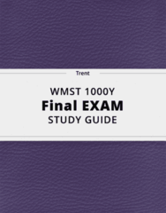 WMST 1000Y- Final Exam Guide - Comprehensive Notes for the exam ( 28 pages long!)