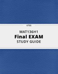 MAT136H1- Final Exam Guide - Comprehensive Notes for the exam ( 38 pages long!)