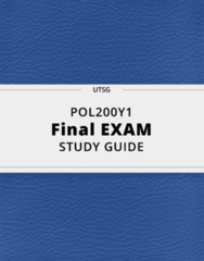 POL200Y1- Final Exam Guide - Comprehensive Notes for the exam ( 46 pages long!)