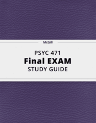 PSYC 471- Final Exam Guide - Comprehensive Notes for the exam ( 149 pages long!)