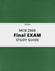 MCB 2000- Final Exam Guide - Comprehensive Notes for the exam ( 43 pages long!)