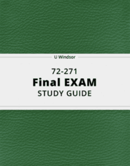 72-271- Final Exam Guide - Comprehensive Notes for the exam ( 39 pages long!)
