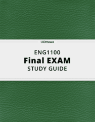ENG1100- Final Exam Guide - Comprehensive Notes for the exam ( 52 pages long!)