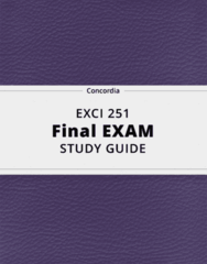 EXCI 251- Final Exam Guide - Comprehensive Notes for the exam ( 52 pages long!)