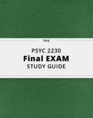 PSYC 2230- Final Exam Guide - Comprehensive Notes for the exam ( 39 pages long!)