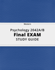 Psychology 2042A/B- Final Exam Guide - Comprehensive Notes for the exam ( 60 pages long!)