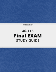 46-115- Final Exam Guide - Comprehensive Notes for the exam ( 85 pages long!)