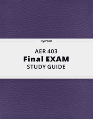 AER 403- Final Exam Guide - Comprehensive Notes for the exam ( 118 pages long!)