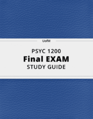 PSYC 1200- Final Exam Guide - Comprehensive Notes for the exam ( 32 pages long!)