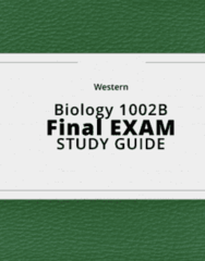 Biology 1002B- Final Exam Guide - Comprehensive Notes for the exam ( 338 pages long!)