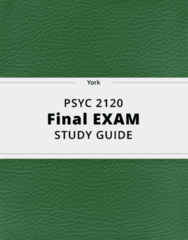 PSYC 2120- Final Exam Guide - Comprehensive Notes for the exam ( 81 pages long!)