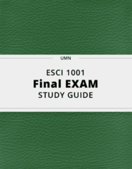 ESCI 1001- Final Exam Guide - Comprehensive Notes for the exam ( 23 pages long!)